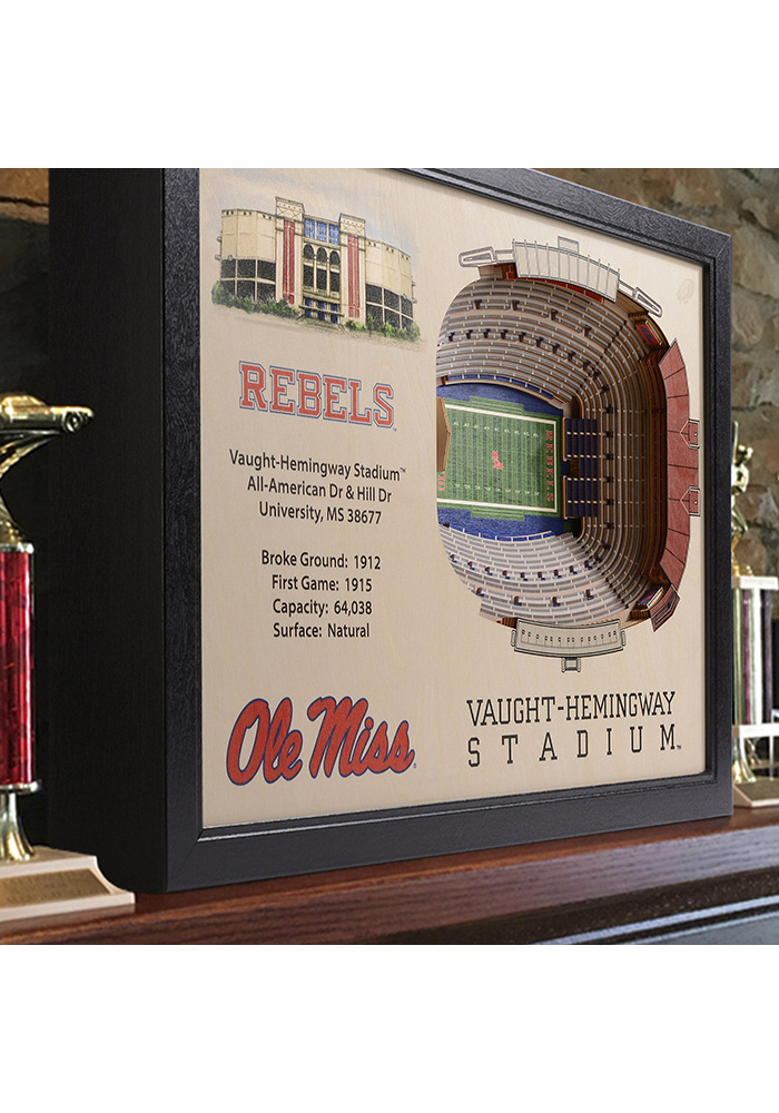 Ole Miss Rebels 3D Stadium View Wall Art - Image 2