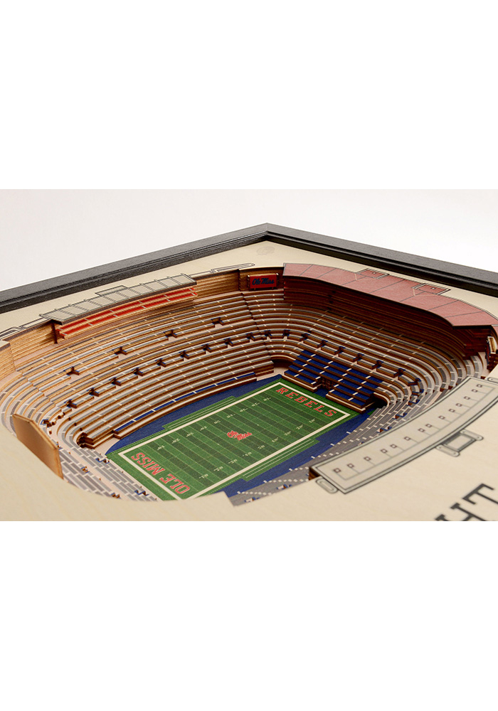 Ole Miss Rebels 3D Stadium View Wall Art - Image 3