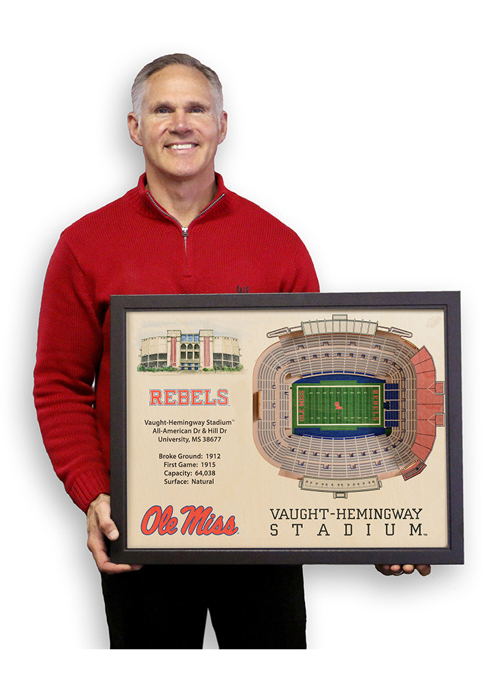 Ole Miss Rebels 3D Stadium View Wall Art - Image 4
