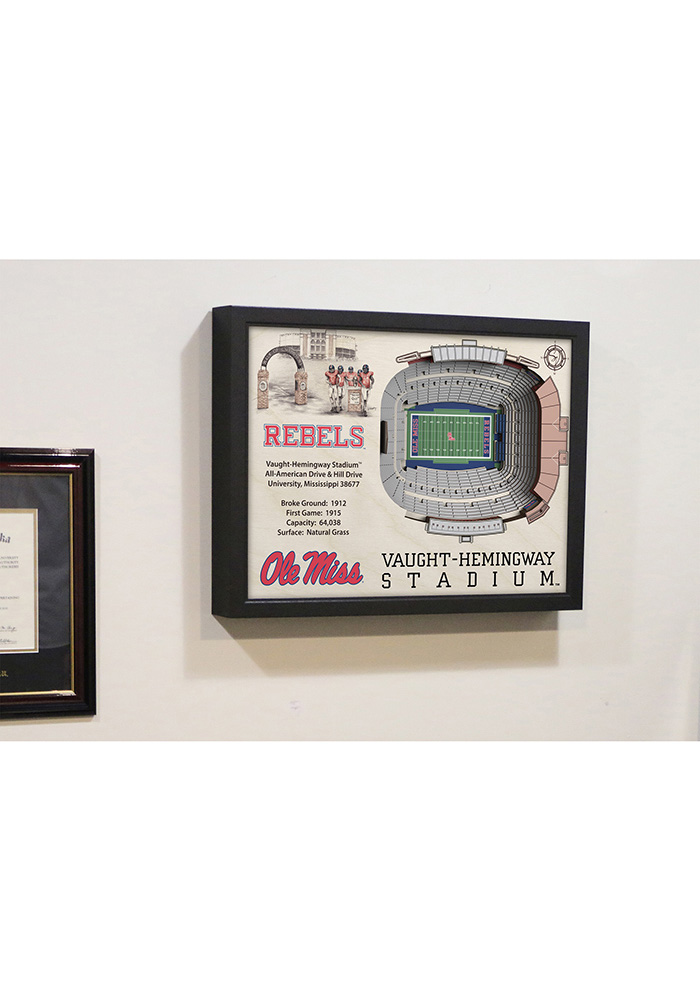 Ole Miss Rebels 3D Stadium View Wall Art - Image 5
