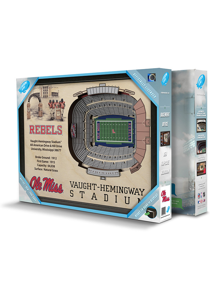 Ole Miss Rebels 3D Stadium View Wall Art - Image 6