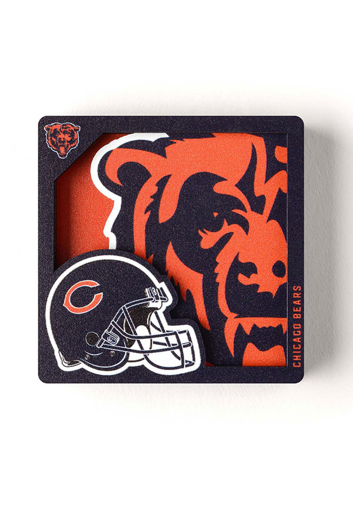 Chicago Bears 3D Logo Magnet