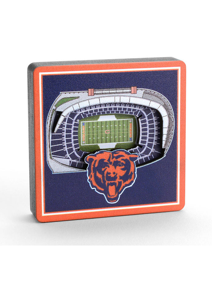 Chicago Bears 3D Stadium View Magnet - Image 2