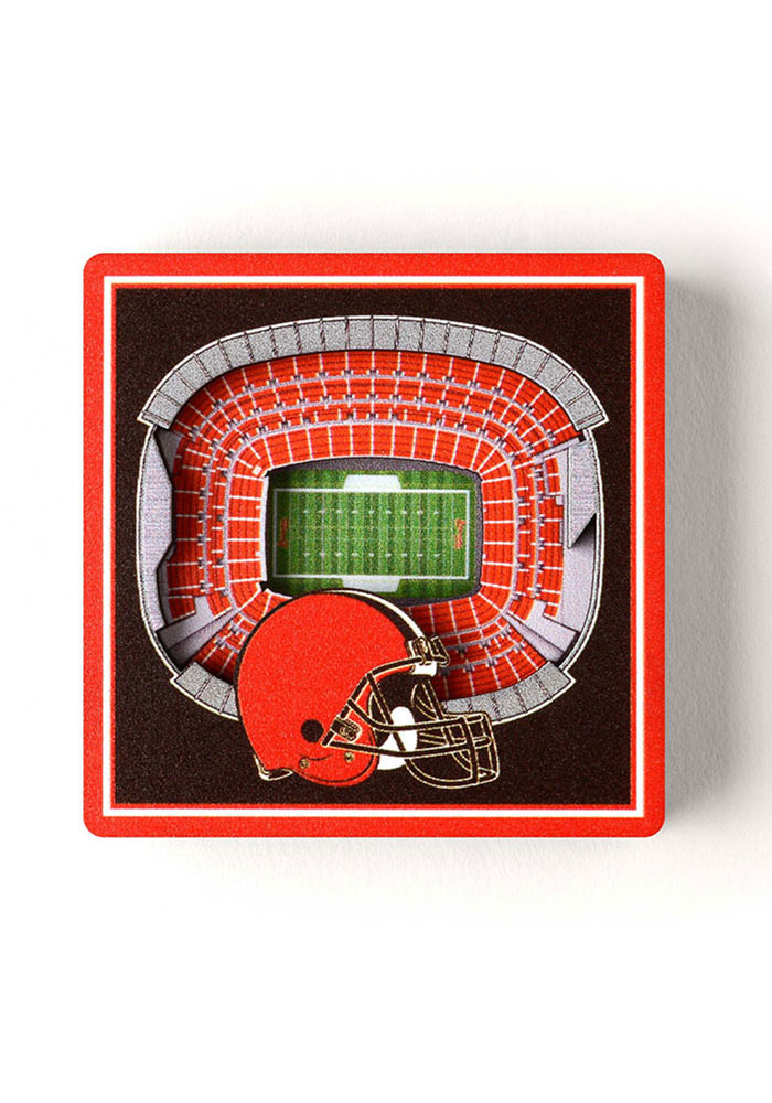 Cleveland Browns 3D Stadium View Magnet - Image 1