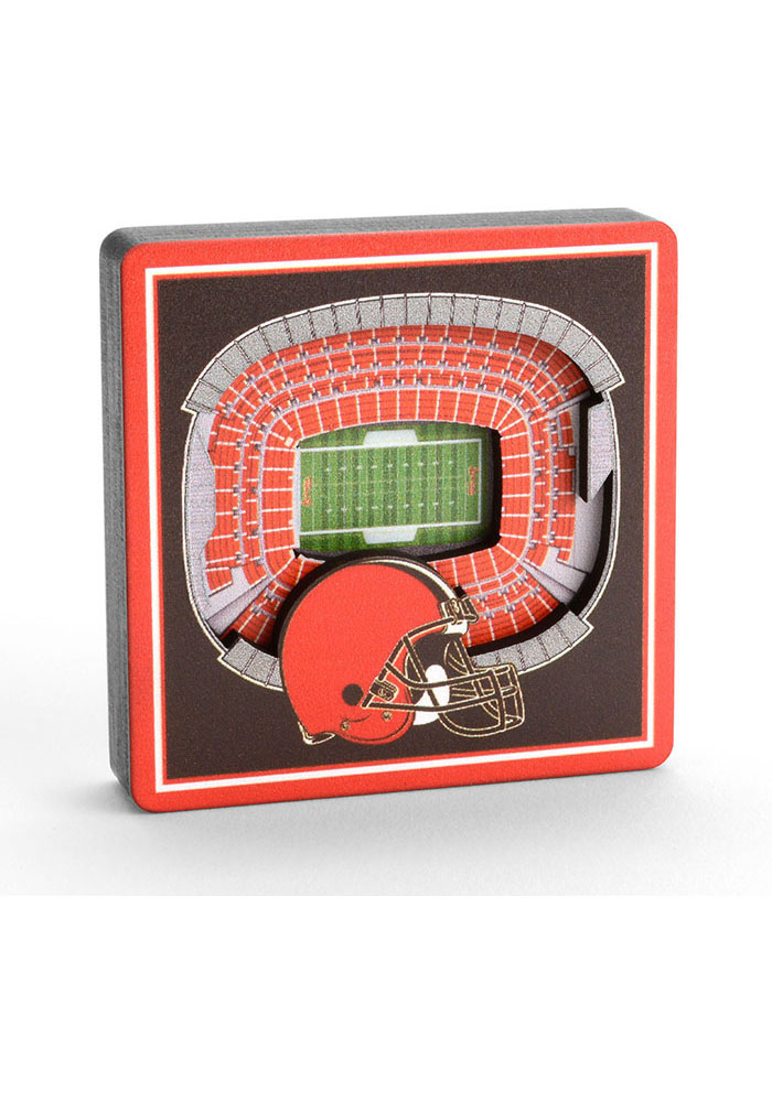 Cleveland Browns 3D Stadium View Magnet - Image 2