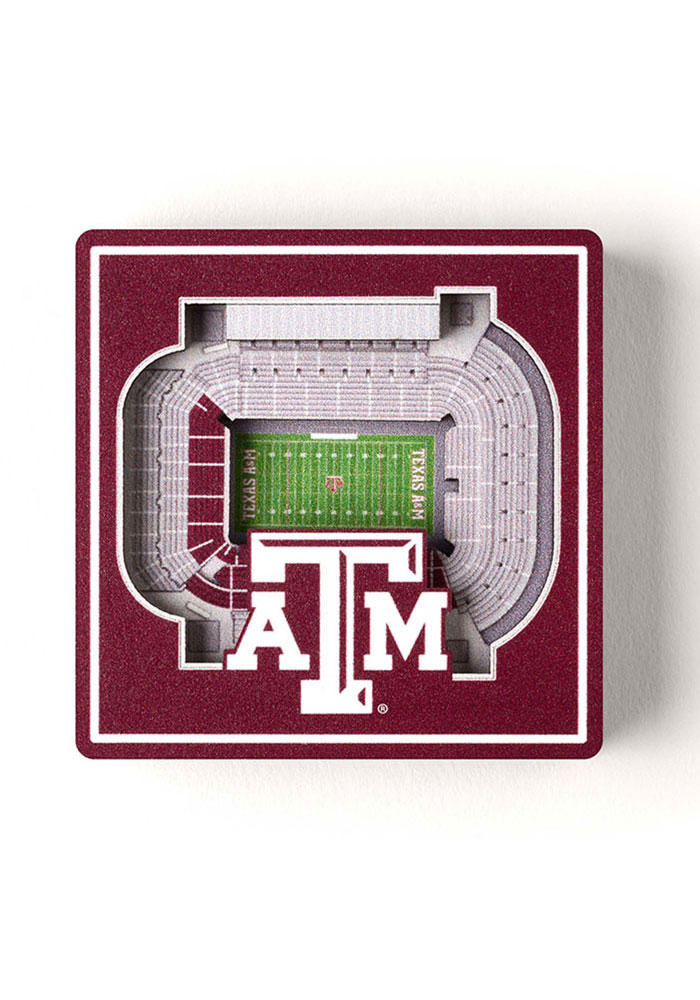Texas A&M Aggies 3D Stadium View Magnet