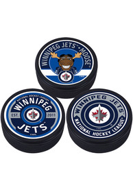 Winnipeg Jets 3 Pack Collectible Hockey Puck