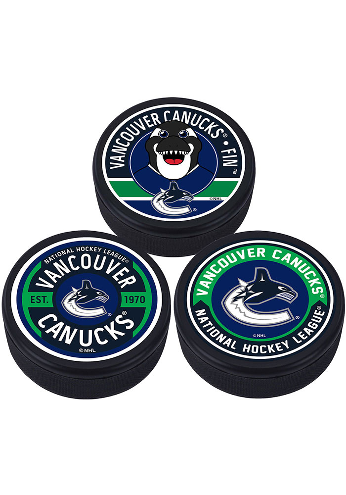 Vancouver Canucks 3 Pack Collectible Hockey Puck - Image 1