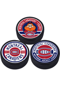 Montreal Canadiens 3 Pack Collectible Hockey Puck