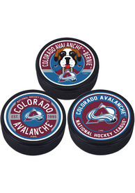 Colorado Avalanche 3 Pack Collectible Hockey Puck