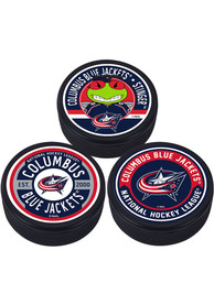 Columbus Blue Jackets 3 Pack Collectible Hockey Puck