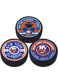 New York Islanders 3 Pack Collectible Hockey Puck