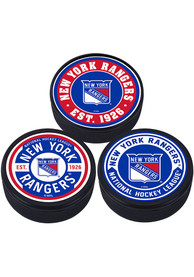 New York Rangers 3 Pack Collectible Hockey Puck