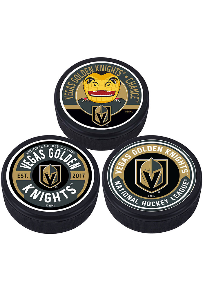 Vegas Golden Knights 3 Pack Collectible Hockey Puck - Image 1