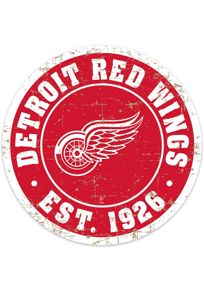 Detroit Red Wings Vintage Wall Sign - Image 1