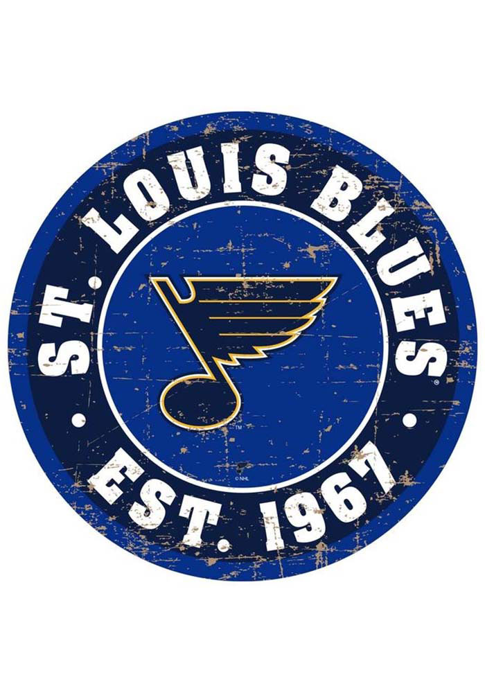 St Louis Blues Vintage Wall Sign - Image 1