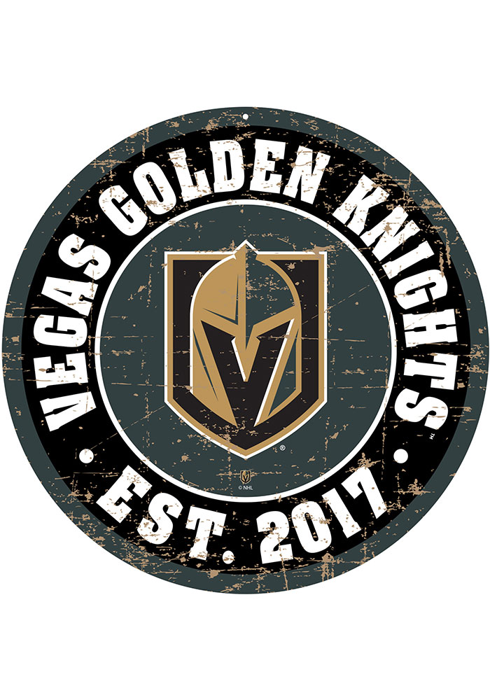 Vegas Golden Knights Vintage Wall Sign - Image 1