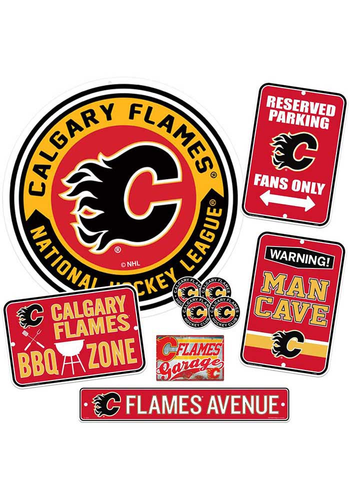 Calgary Flames Ultimate Fan Set Sign - Image 1