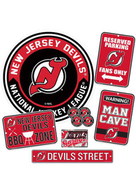 New Jersey Devils Ultimate Fan Set Sign