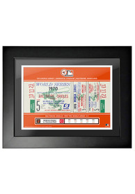 Baltimore Orioles 1970 World Series Ticket Framed Posters