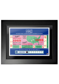 Los Angeles Dodgers 1965 World Series Ticket Framed Posters