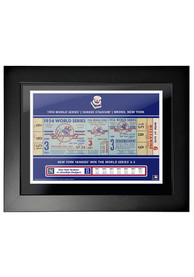 New York Yankees 1956 World Series Ticket Framed Posters