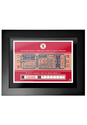 St Louis Cardinals 1946 World Series Ticket Framed Posters