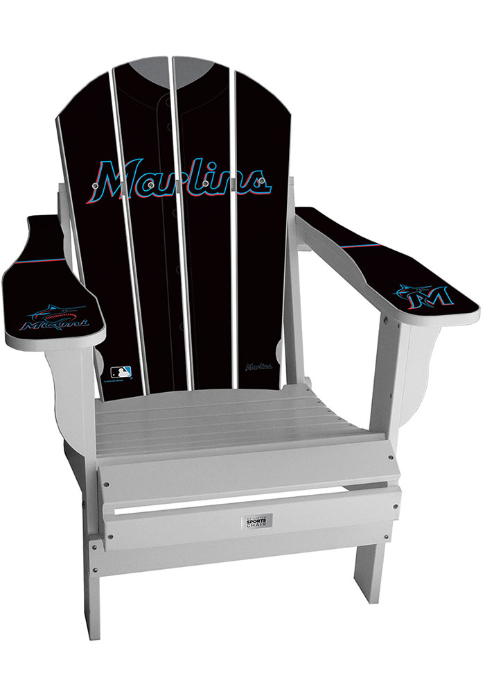 Miami Marlins Jersey Adirondack Chair Beach Chairs - Image 1
