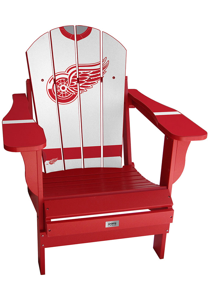 Detroit Red Wings Jersey Adirondack Beach Chairs - Image 1