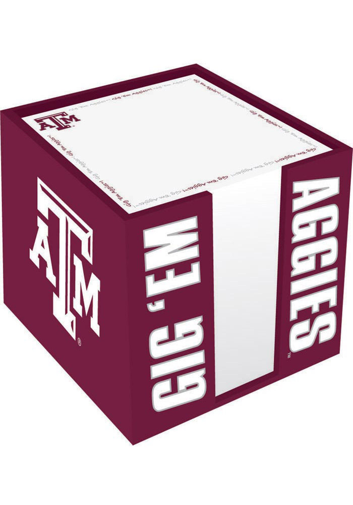 Texas A&M Aggies Note Cube Holder Notepad - Image 1