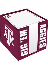 Texas A&M Aggies Note Cube Holder Notepad