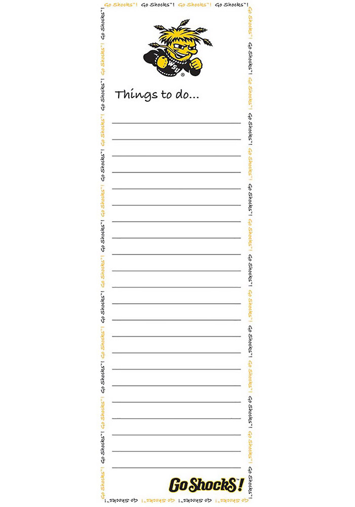 Wichita State Shockers Things To Do Notepad - Image 1