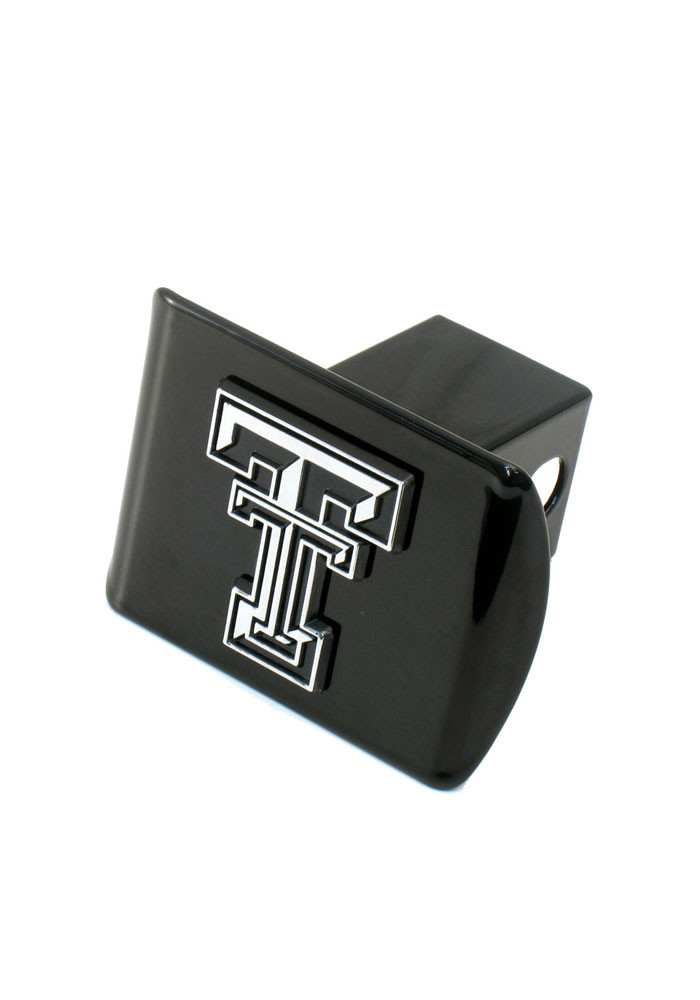 Texas Tech Red Raiders Chrome Logo Car Accessory Hitch Cover - Image 1