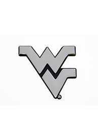 West Virginia Mountaineers Chrome Car Emblem - Grey
