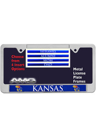Kansas Jayhawks 4 Pack Insert License Frame