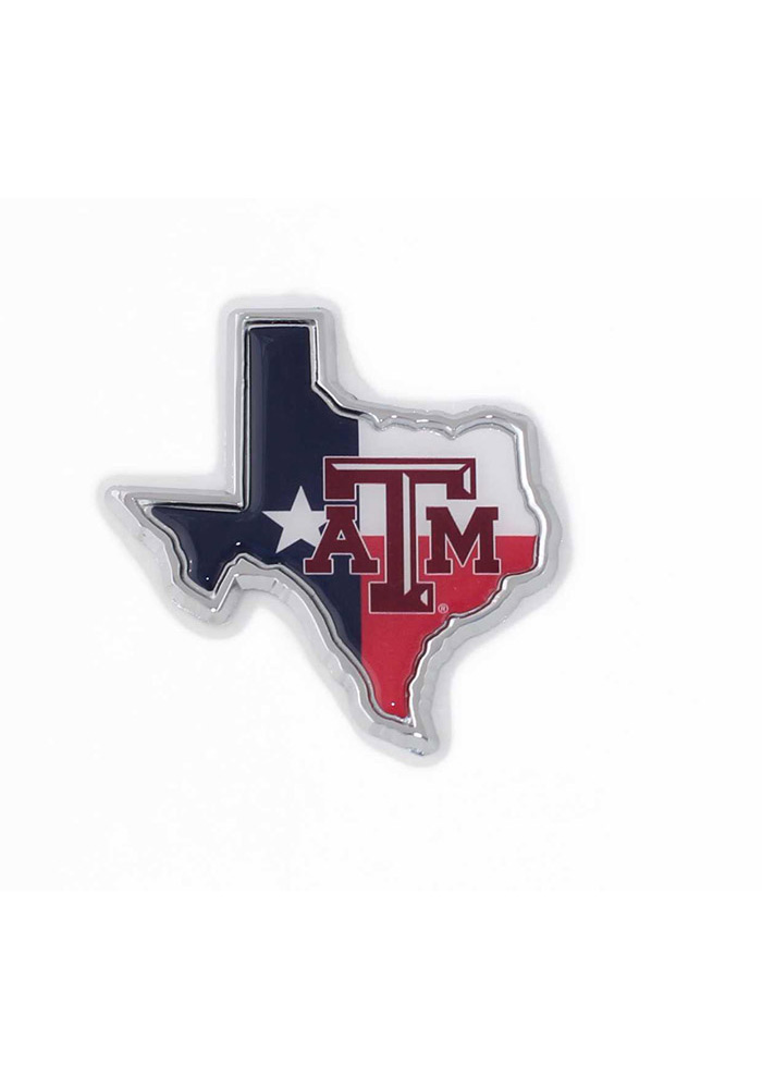 Texas A&M Aggies Metal Car Emblem - Blue