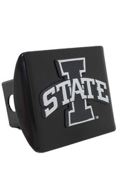 Iowa State Cyclones Black Metal Car Accessory Hitch Cover