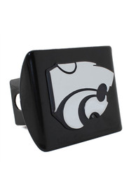 K-State Wildcats Black Metal Car Accessory Hitch Cover