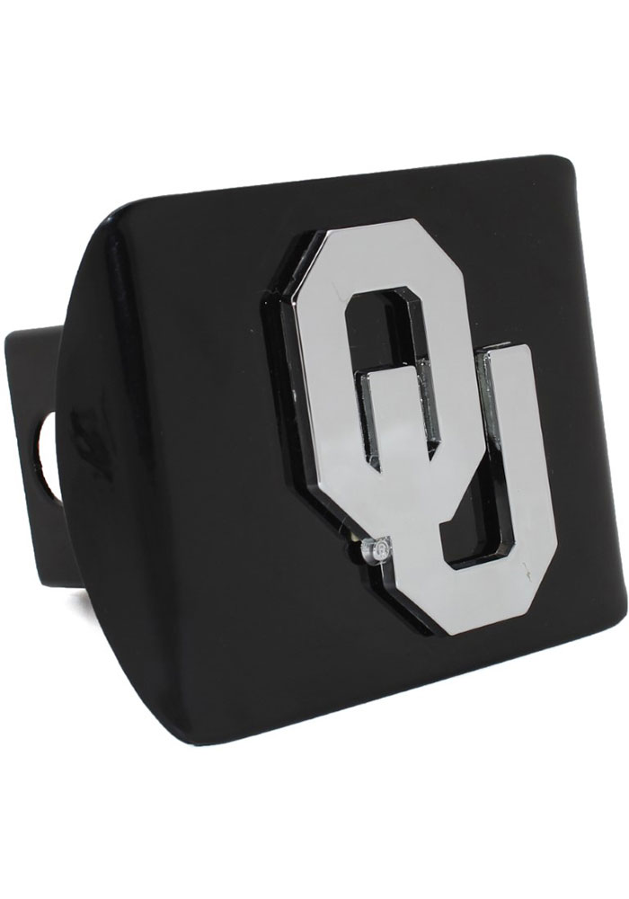 Oklahoma Sooners Black Metal Car Accessory Hitch Cover - Image 1
