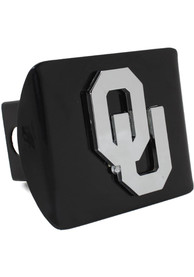 Oklahoma Sooners Black Metal Car Accessory Hitch Cover