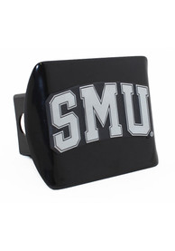 SMU Mustangs Black Metal Car Accessory Hitch Cover