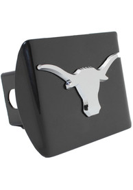 Texas Longhorns Black Metal Car Accessory Hitch Cover
