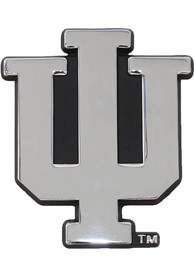 Indiana Hoosiers Chrome Car Emblem - Silver