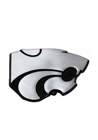 K-State Wildcats Stainless Steel Car Emblem - Silver