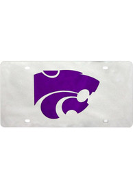 K-State Wildcats Team Logo Silver Car Accessory License Plate