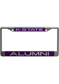 K-State Wildcats Alumni Chrome License Frame