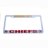 Kansas City Chiefs Plastic License Frame