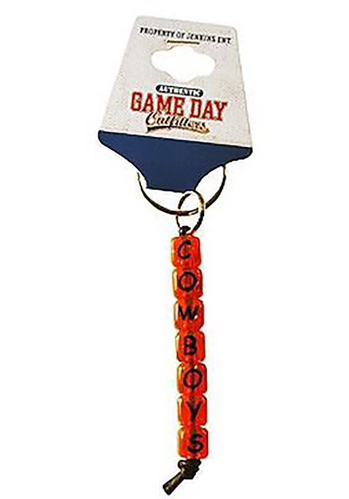 Oklahoma State Cowboys Beaded Small Keychain - Image 1