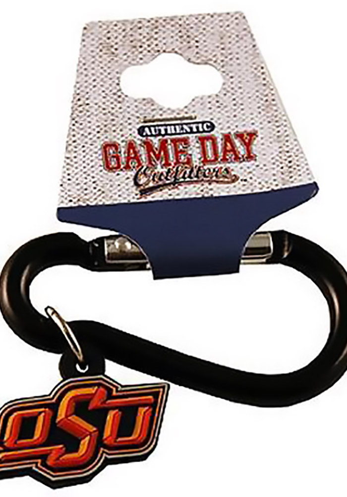 Oklahoma State Cowboys Carabiner Clip Keychain - Image 1
