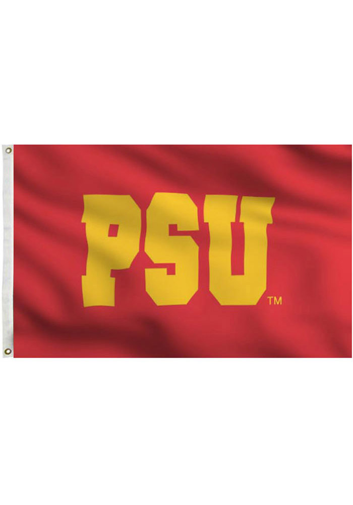 Pitt State Gorillas 3x5 Red Grommet Applique Flag - Image 1